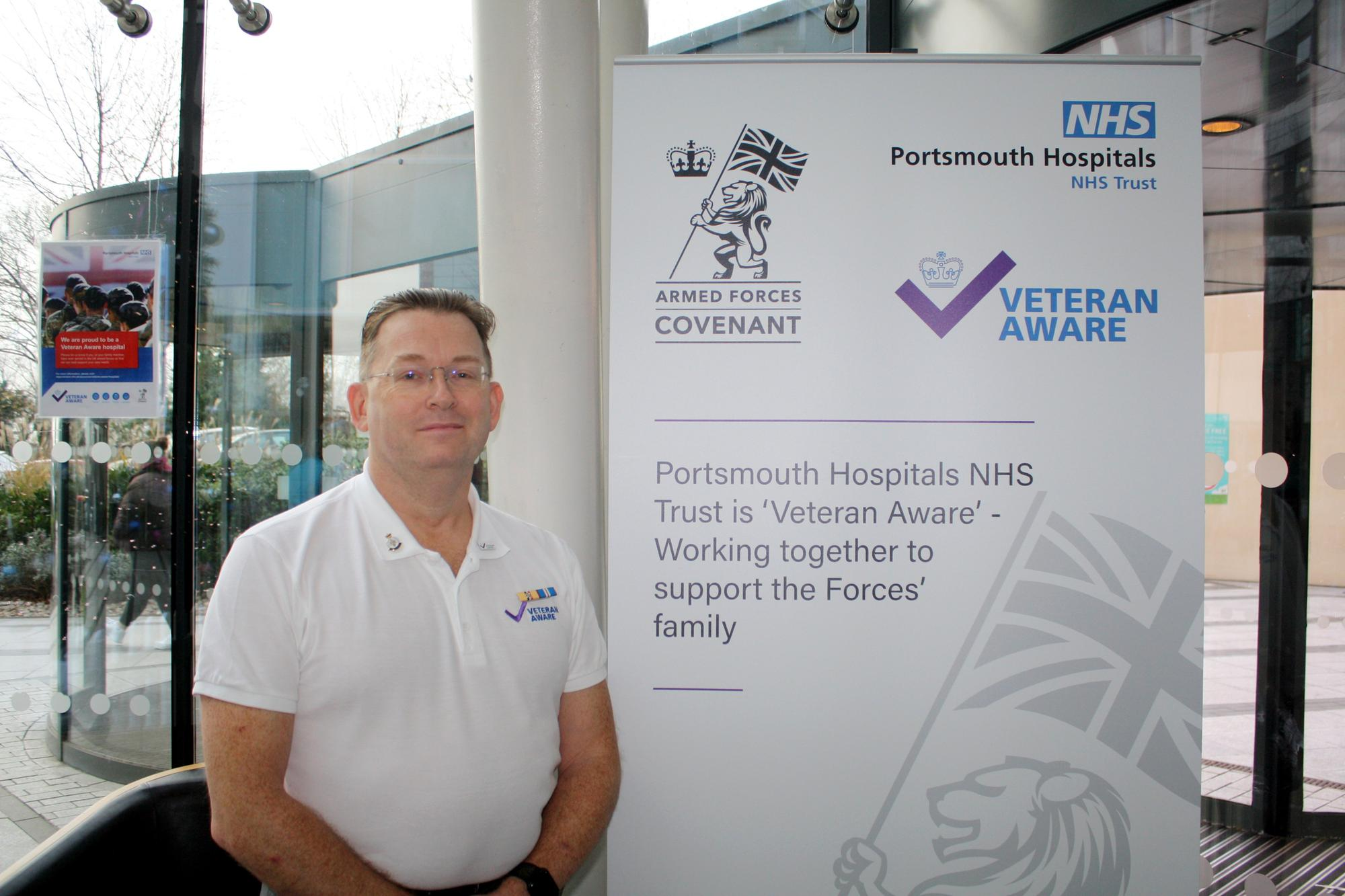 Staff pleased as Queen Alexandra Hospital gets gold status for supporting the armed forces
