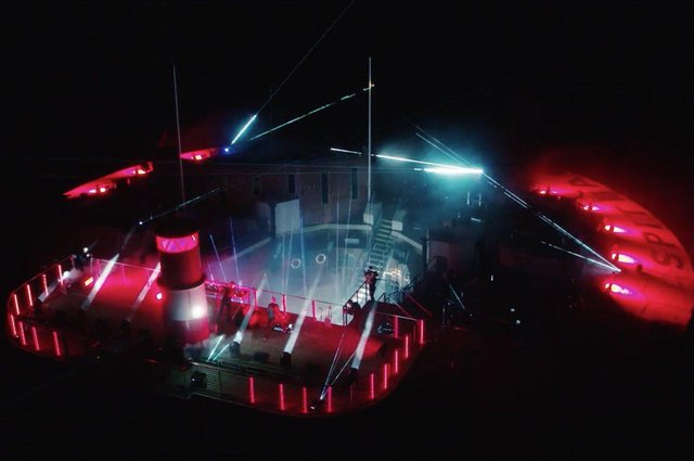 Pendulum stream their music video from Spitbank Fort. Picture: Decade Management