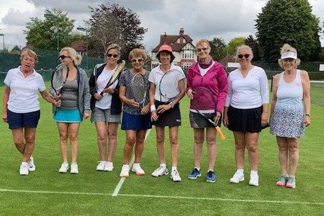 Stubbington ladies faced off against Avenue 4ths, from left to right: Jenny Ward, Karen McCulloch, Elaine Reed, Jenny Nicholson, Sandra Turner, Sheila Drummond, Mary Robinson, Sally Barwood