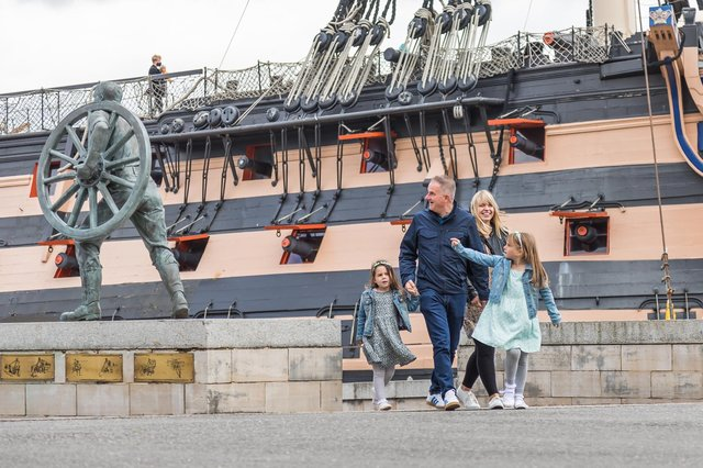 A family visit to the Historic Dockyard on the first weekend after lockdown Picture: Mike Cooter (220521)