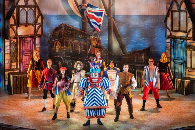 The ensemble in Dick Whittington at The Kings Theatre, Southsea, 2020. Picture by Andrew Searle