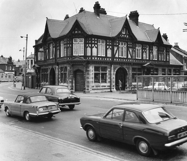 Designed by famed architect A H Bone, this pub was situated on the corner of Flying Bull Lane. It closed in 2005 and was badly damaged in an arson attack in 2007. It is now a mixture of office space and private accommodation.