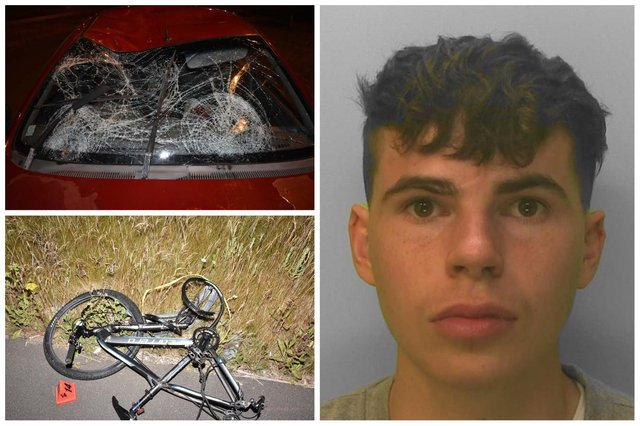 Benjamin Grimmett was jailed for crashing into a 17-year-old cyclist near Bognor Regis. Picture: Sussex police