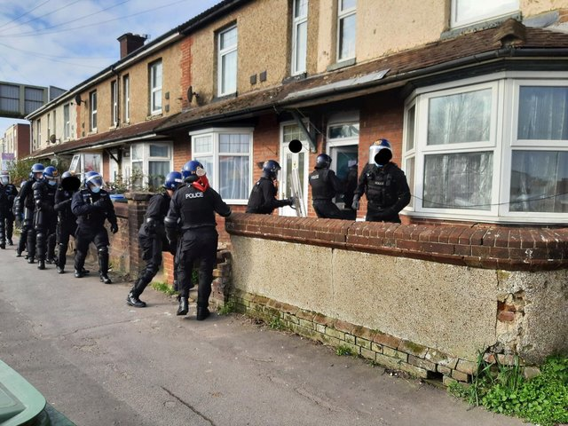 Police in Gosport Road, Fareham, on March 8. Picture: Hampshire police