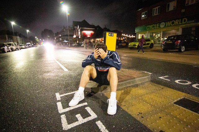 Jimmy Gladman outside the Green Posts, Portsmouth after the match. Picture: Habibur Rahman