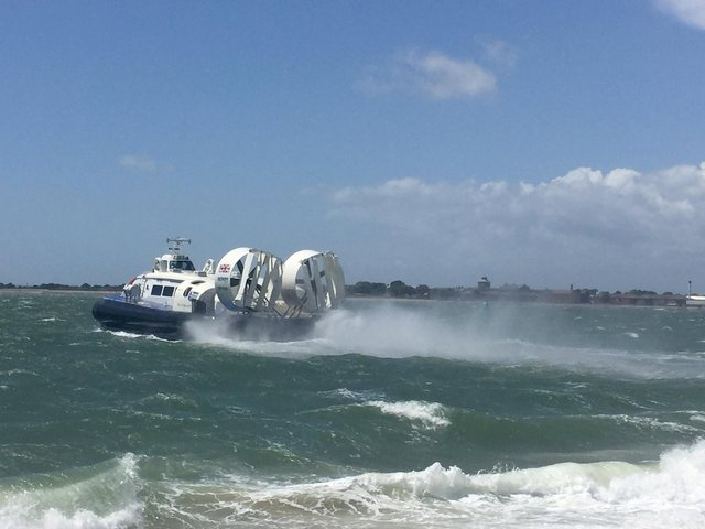 Hovertravel has suspended services to and from the Isle of Wight.  Picture: Kevin Kearney