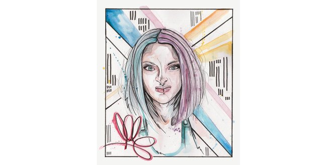 The cover of Your Face Is An Album, a charity tribute album in memory of Porsche 'Pops' McGregor-Sims, who died at 27 two weeks after being diagnosed with cervical cancer. Artwork by Samo White