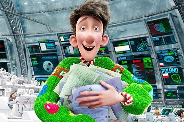 Arthur Christmas is being shown on TV this Christmas.