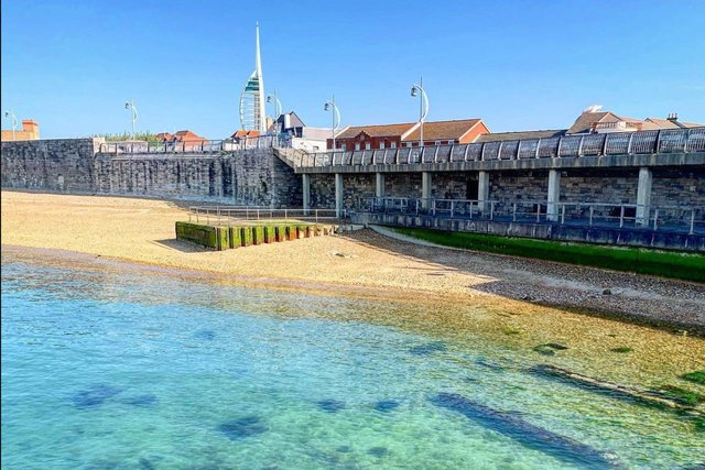 A stunning view of the clear water at the Hot Walls, Old Portsmouth, during the first lockdown on April 24, 2020. Picture: Jamie Sunderland