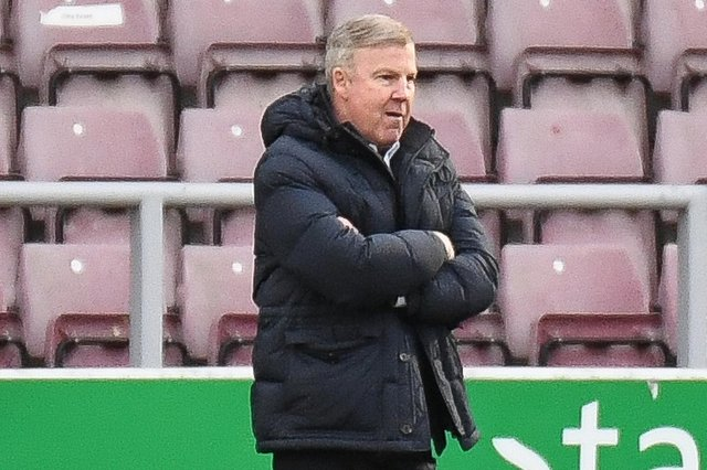 Pompey boss Kenny Jackett at today's game at Northampton
