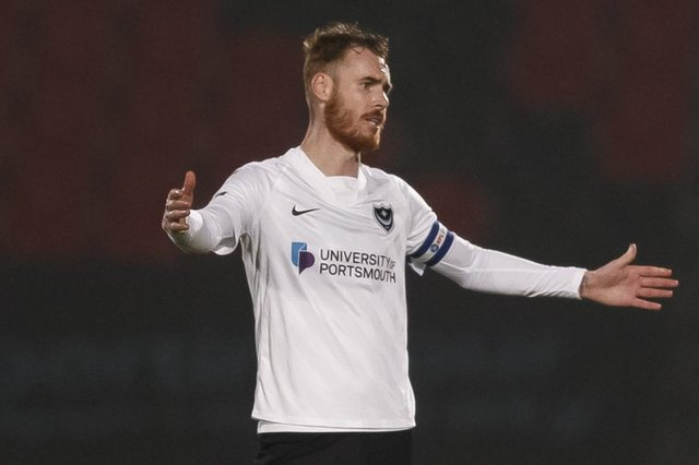 Tom Naylor during Pompey's loss at Doncaster. Picture: Daniel Chesterton/phcimages.com