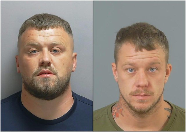 From left: Aston Hannis, Charlie Statham. Both men have been jailed after being found guilty of the murder of Gurinderjit Rai in Corhampton in 2019. Picture: Hampshire Constabulary.