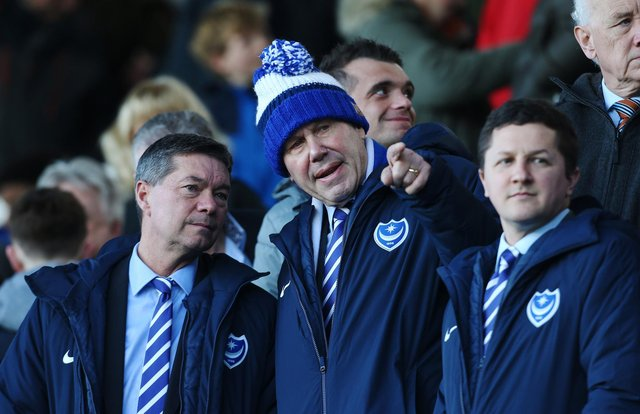 Mark Catlin is adamant Michael Eisner and Andy Redman remain at Pompey for the long-term. Picture: Joe Pepler