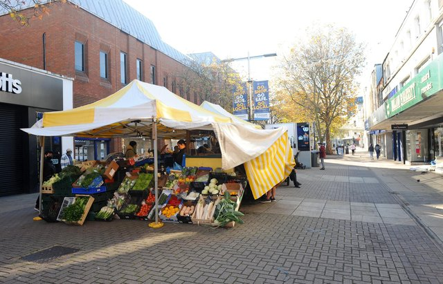 The market in Commerical Road. Picture: Sarah Standing (051120-7687)