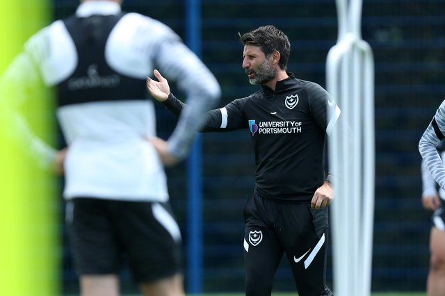Pompey boss Danny Cowley  Picture: Chris Moorhouse (jpns 280621-37)