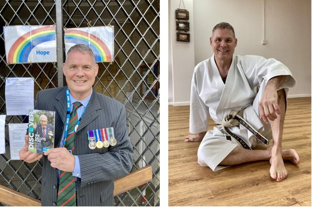 Nigel Hosking, from Titchfield, took on a 100 kata karate challenge in honour of Sir Captain Tom Moore