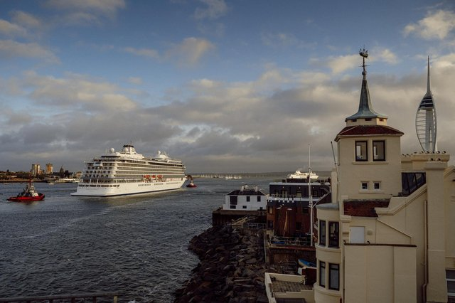 Viking Venus arriving into Portsmouth on May 10. Picture by Tom Langford/Portsmouth City Council.