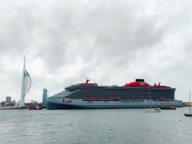 Scarlet Lady arrives in Portsmouth on June 21. Picture: Ben Dollery