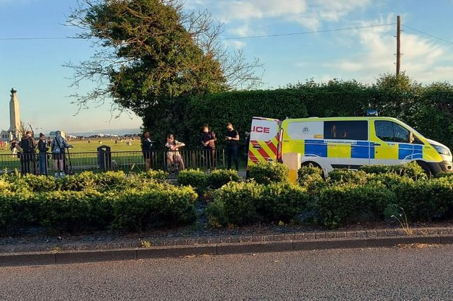 Police arrested a 15-year-old boy after a fracas on Southsea Common in Portsmouth on June 5. Picture: Fiona Callingham