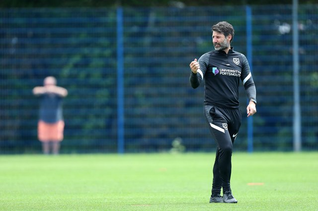Danny Cowley is adamant he wants loanees to drive his Pompey first-team, not to act as squad fillers. Picture: Chris Moorhouse