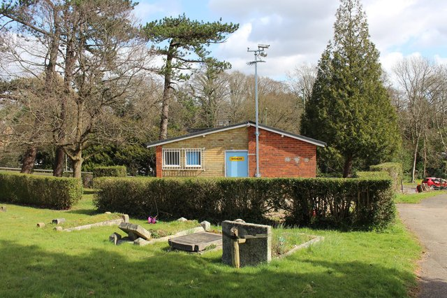 The toilet block at Waterlooville Cemetery. Picture: Emily Turner