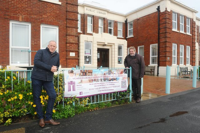 Lee Hub, the community organisation set to take over Lee-on-the-Solent library has been given the green light.Pictured is: (l-r) Jonathan Moore, chairman of Lee Business Association and Cllr. Graham Burgess.Picture: Sarah Standing (271020-6941)