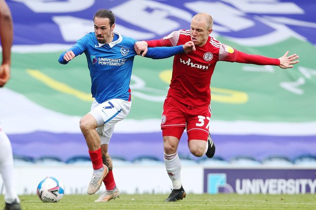 Ryan Williams was devastated after Pompey's Accrington defeat ended hopes of reaching the play-offs. Picture: Joe Pepler