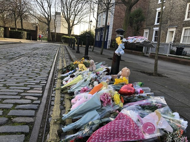 Flowers, soft toys and heartfelt messages left in tribute to baby Ivory Rose a week after her body was found dead in Old Commercial Road, Buckland,