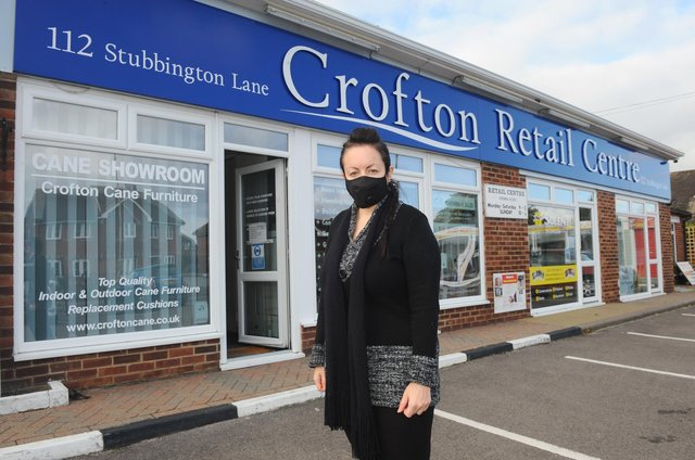 Rebecca Burke (44), owner of Crofton Cane Furniture in Stubbington, is frustrated that big retail stores are still trading but small businesses have to close during the second lockdown. Picture: Sarah Standing (121120-)
