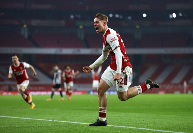 Emile Smith Rowe has continued to flourish, establishing himself in Arsenal's first-team following a Huddersfield loan spell under Danny Cowley. Picture: Julian Finney/Getty Images