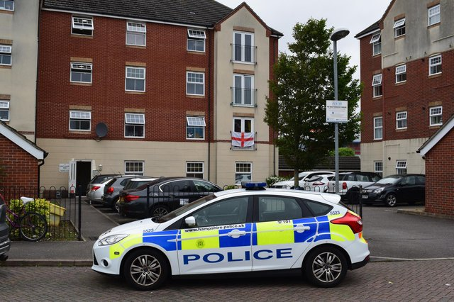 Pictures of police in East Shore Way, Milton, on Sunday afternoon. Picture: Stuart Vaizey