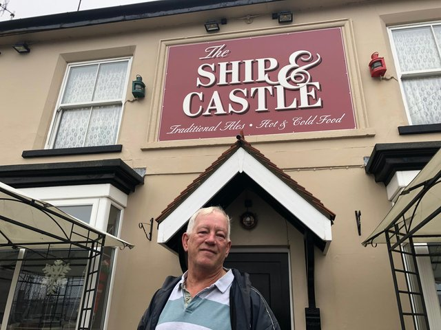 Steve Fitzgerald, the landlord of The Ship and Castle, in Rudmore Road.