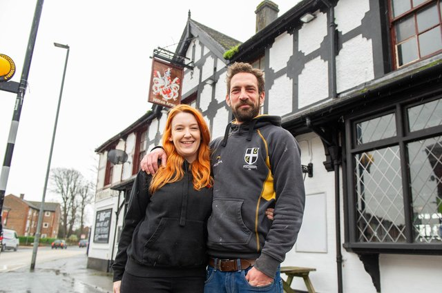 Christine Sloan with her partner, Dan Smith at the Milton Arms, Portsmouth.  Picture: Habibur Rahman