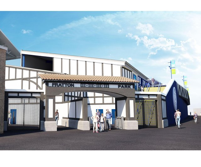 Pompey's proposed plans for the Milton End redevelopment. Picture: Portsmouth Football Club