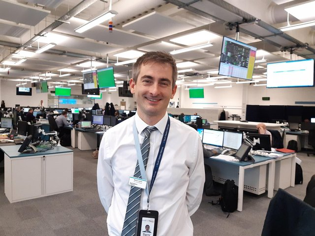 Barry Lemm, one of sevennew duty control managerstaken on bySouth Western Railwayto work at the Wessex Integrated Control Centre in Basingstoke