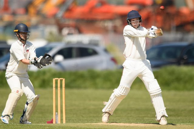 Clanfield  captain Matt Bradley batting against Portsmouth & Southsea 4ths. Picture: Keith Woodland