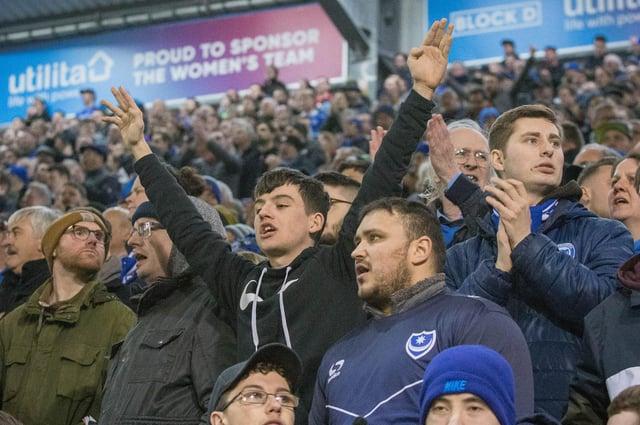 Pompey fans inside Fratton Park. Picture: Habibur Rahman