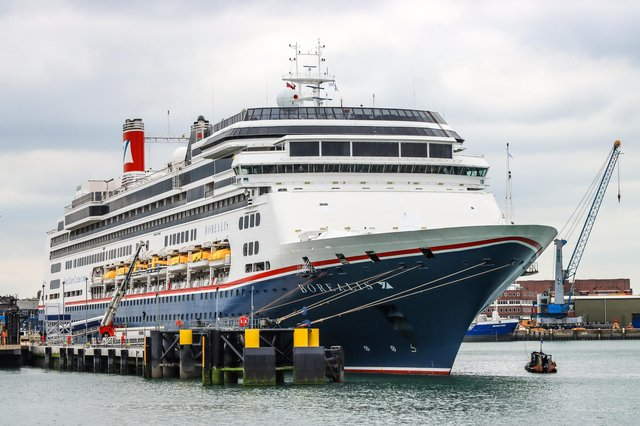 Today, Portsmouth International Port welcomed Fred.  Borealis from Olsen Cruise Line for the first time, which is one of their most recent additions to their fleet.  Photo: Andrew Sassoli-Walker