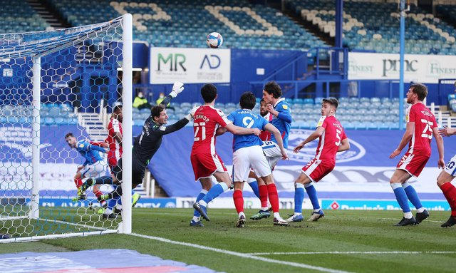 Pompey created little in the second half on Saturday