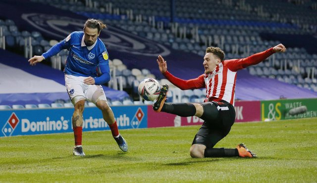 Gaffer for a Day Ben Bishop named Ryan Williams as his Pompey man of the match against Sunderland. Picture: Joe Pepler