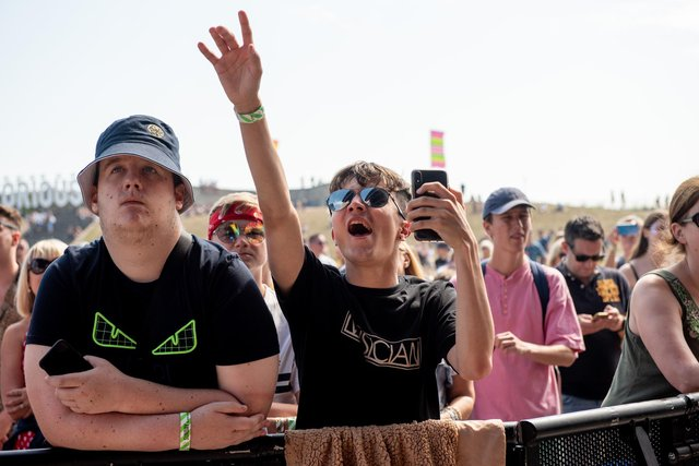 The crowd enjoying Fatherson on the Castle Stage. Picture: (250819-022)