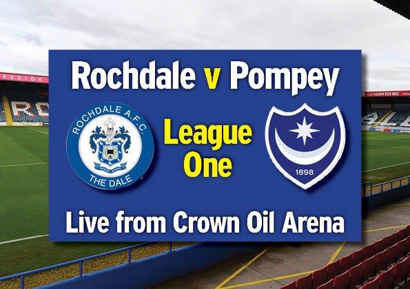 Rochdale v Portsmouth - LIVE: the big-match build-up from Crown Oil Arena