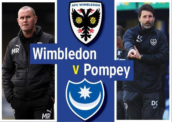 Pompey take on AFC Wimbledon at Plough Lane today (3pm).