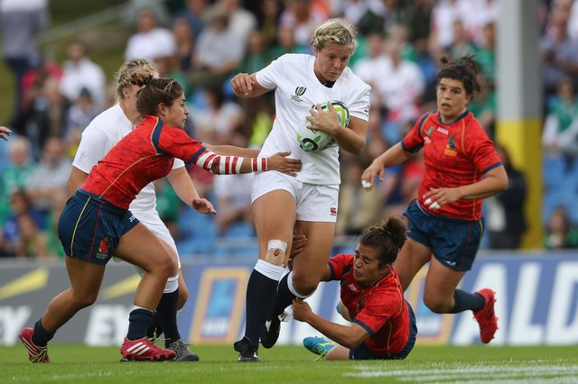 England women's star Vickii Cornborough will be at the Portsmouth Valkyries open training session this coming Saturday. Photo by David Rogers/Getty Images.