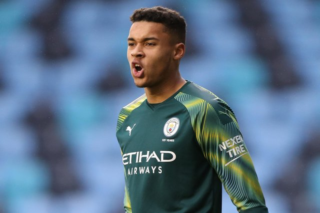 Man City loanee Gavin Bazunu has missed Pompey's opening two friendlies. Picture: Charlotte Tattersall/Getty Images