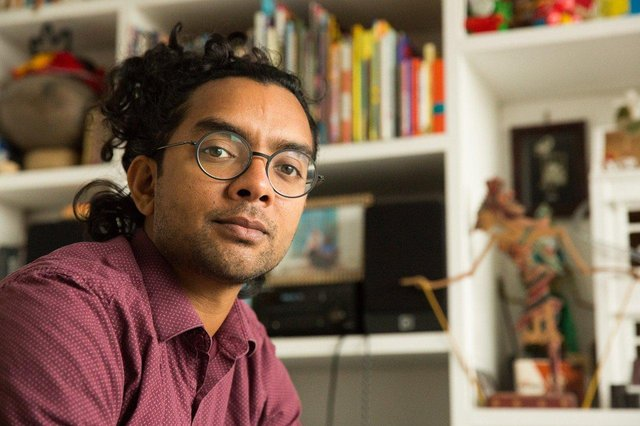Poet and performer Arji Manuelpillai. Picture by Martin Brown