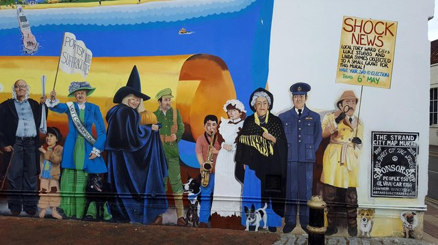 The controversial addition to The Strand mural in Southsea. Picture: Mark Lewis