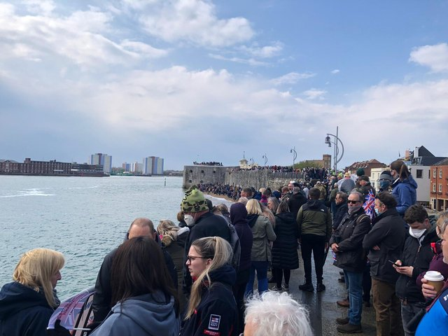 Crowds gathered in Old Portsmouth.