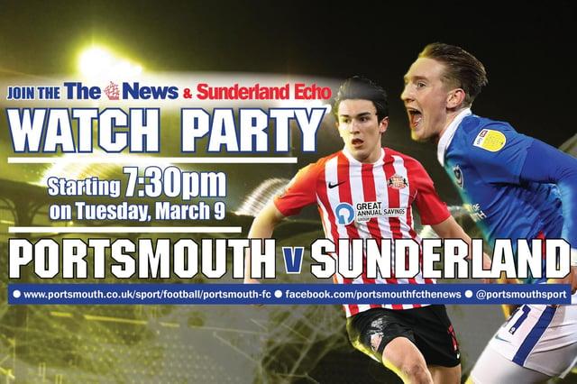 Portsmouth v Sunderland Watch Party