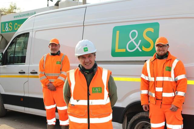 Shaun Wright, Steve Harman, Joshua Cole from L&S Waste Management in Fareham